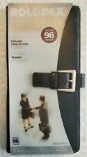 Rolodex Business Card Book 68240 Holds 96 Cards 9 Inside Pockets New