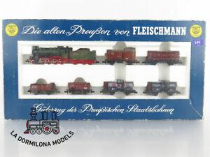 R146-ESCALA-N-FLEISCHMANN-7884-Zug-Set-Der-Landbote-II-mit-Lok-G-8-2-K-P-E-V