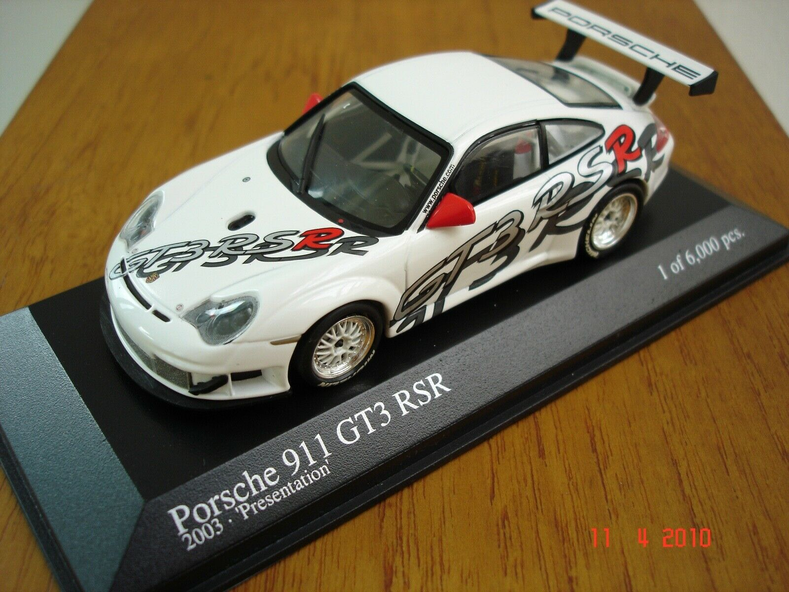 1 43 Minichamps Porsche 911 GT3 RSR Präsentation 2003  | Ideales Geschenk für alle Gelegenheiten