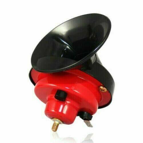 Auto Hupe 2-Klang Rot Schwarz 12V Fanfare NEU Hupe Horn Satz Kunststoff für