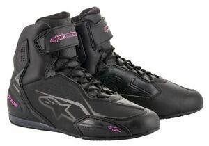 Alpinestars-STELLA-FASTER-3-Ladies-Commuter-Riding-black-Pink-Shoe-Boots-SALE