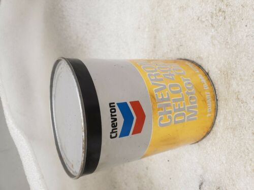 Vintage Chevron Delo 400 Motor Oil New Can Full Collectible 70/'s Service station