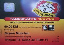 TICKET 1997/98 Bayer 04 Leverkusen - Bayern München