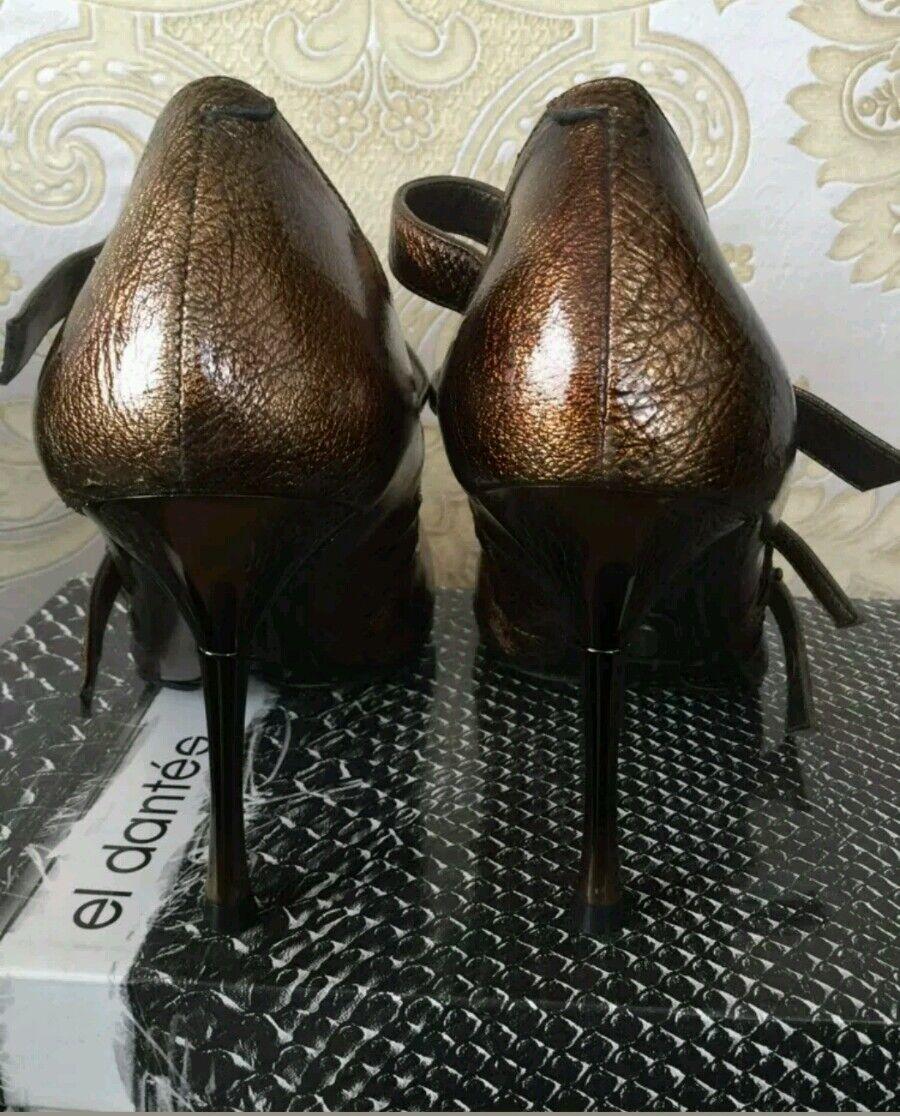 NEW designer El Dantes Dantes Dantes Faith Solo gold pointy toe heels size 6 UK 39 eu rrp c65f0c