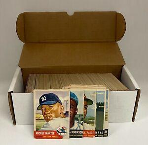 1953 Topps Baseball Complete Set (280) w/ Mantle Satchel Paige Jackie Robinson