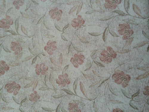 CUSHION COVERS,FABRIC U4 CREAM//BROWN FLOWER UPHOLSTERY FABRIC 144CMS WIDE SOFA