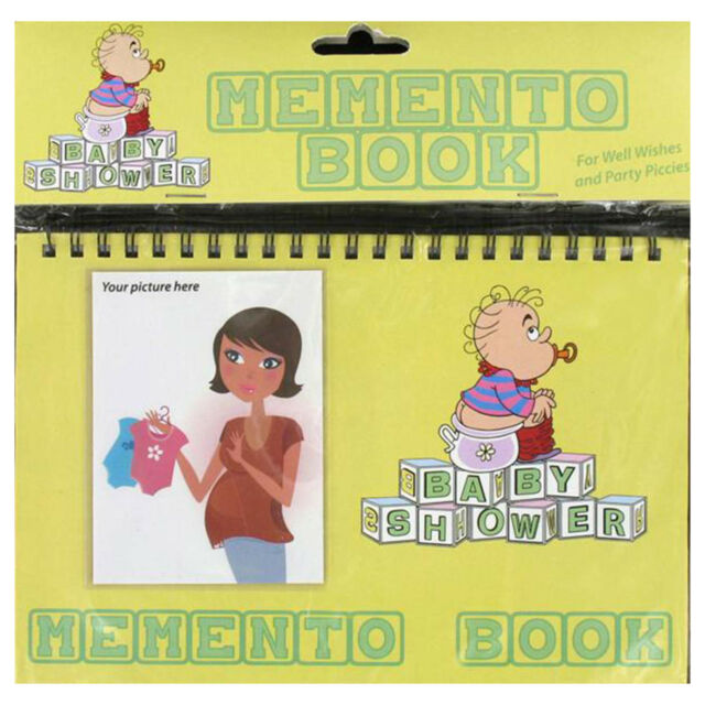 MEMENTO BOOK Baby Shower Party Keepsake Boy Girl Unisex
