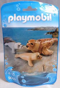 PLAYMOBIL Tüte 9069 Seehund Robben Robbe 2 x Robben-Baby für Zoo Tierpark NEU
