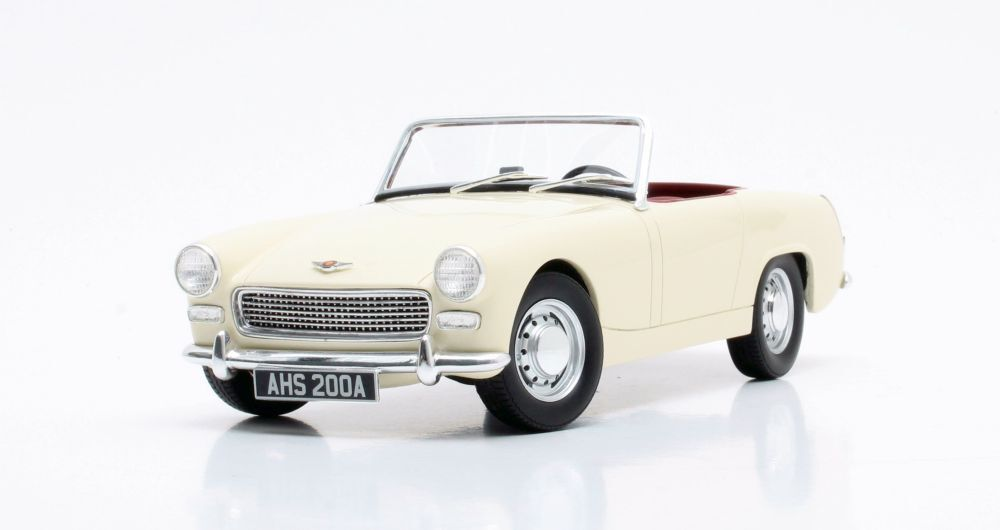 CML020-1 CULT SCALE MODELS, AUSTIN HEALEY SPRITE, WHITE, 1 18 SCALE