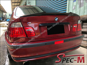 Details About M4 Style Carbon Fiber Trunk Spoiler Tail Wing For 97 04 Bmw E46 2dr Coupe Only