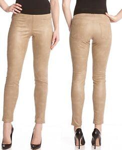 Karen Kane L38295 Brown Stretch Twill Skinny Leggings Pants MSRP $118
