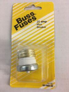 Cooper-Bussmann-Buss-BP-MB-20-125V-Edison-Base-20-amp-Mini-Breaker-Fuse-USA