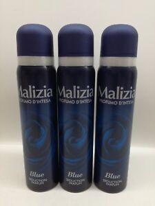 Dettagli su MALIZIA PROFUMO D'INTESA DEODORANTE SPRAY BLUE 100 ml 3 PEZZI