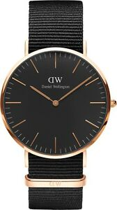 Daniel-Wellington-DW00100148-Classic-Black-Cornwall-Men-039-s-Watch-RRP-279