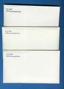 1979-1980-1981-Mint-Sets-Eight-SBA-Dollars