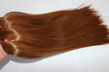 Long Synthetic Hair Rooting Reborn Babies Toddlers Straight Red NOT Mohair