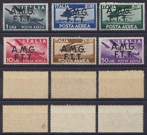 """Trieste A 1947 P.A. """"Democratica"""" serie 6 val. nuova MNH** g. integra soprast."""