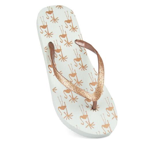 FLIP333 Sandrocks Womens//Ladies Tropical Flamingo Flip Flops