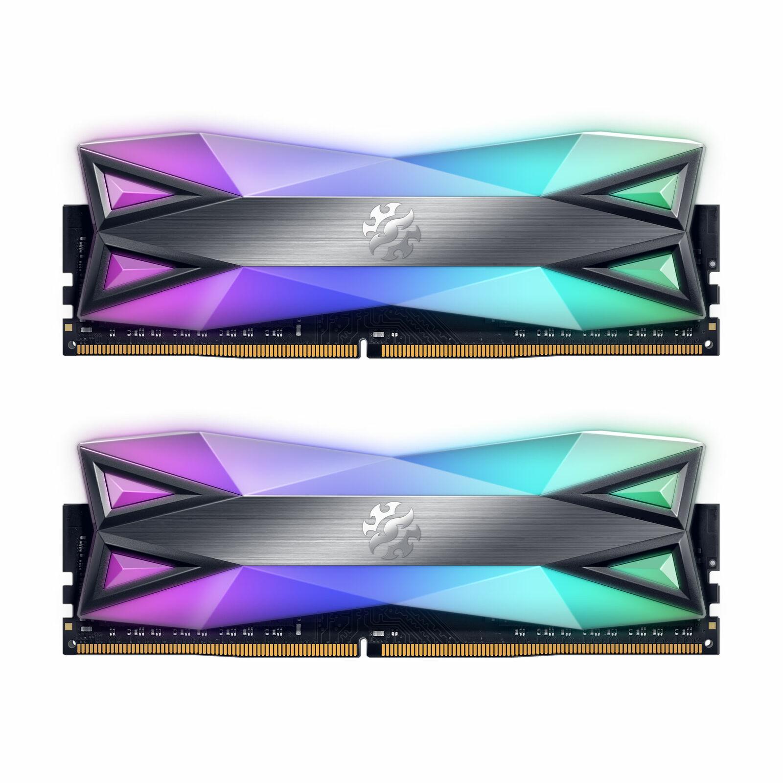 XPG SPECTRIX D60G RGB Desktop Memory: 16GB (2x8GB) DDR4 3200MHz CL16 GREY. Buy it now for 84.99