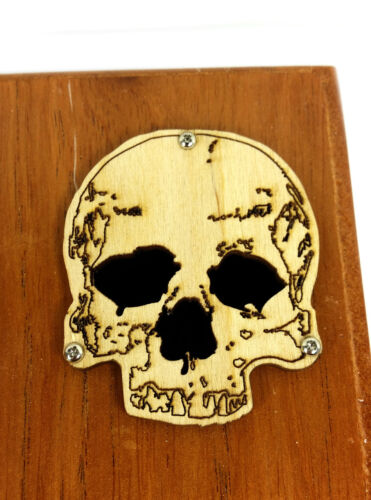 2pc Laser-cut Skull Sound Hole Covers for Cigar Box Guitars /& other crafts!