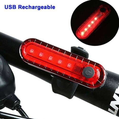 Super Bright LED USB Charging Rainproof Running Bike Riding Warning Tail Light L
