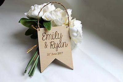 Affidabile Wedding Bunting Placca-personalizzata In Legno Regalo O Decorazione-