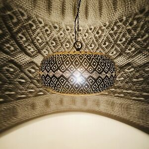 Moroccan-Pendant-Light-Hanging-Lamp-Lampshades-Lighting-Brass-Finish-Color-Gold