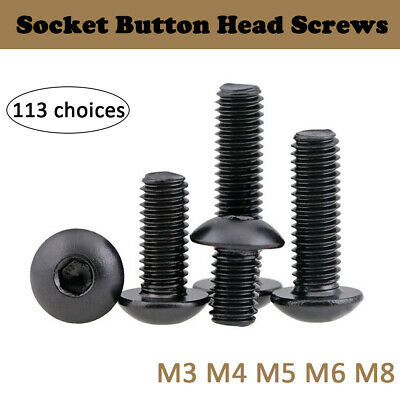 M3 M4 M5 M6 M8 Linsenschrauben Innensechskant Schraube Stahl ISO7380 mit Flansch