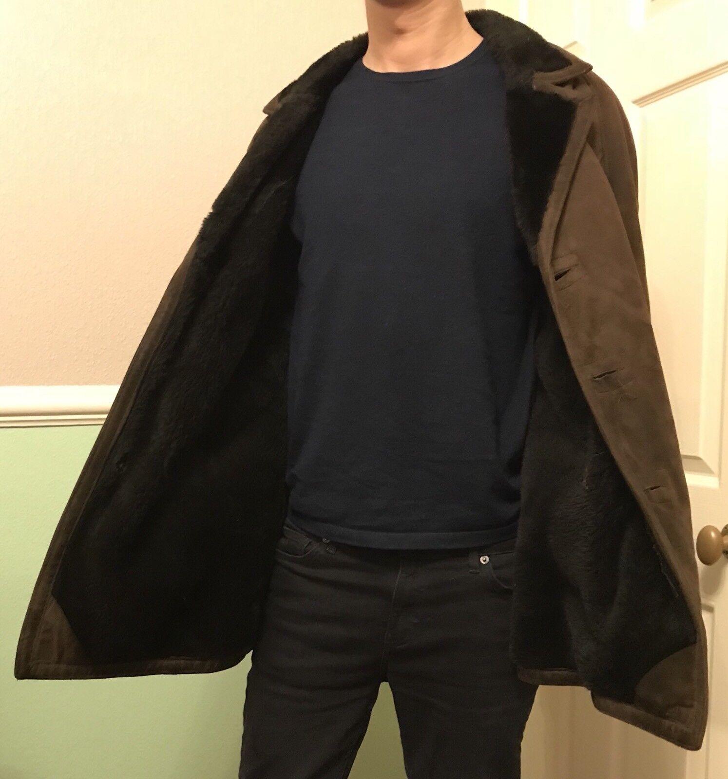 Vintage Férfi Báránybőr