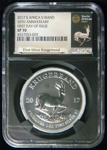 9415 2017 SOUTH AFRICA KRUGERRAND NGC SP70 1ST DAY COA