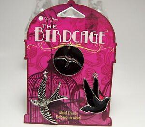4 Colorful Enamel Alloy Bird Birdcage Charms Pendant DIY Crafts Accessories