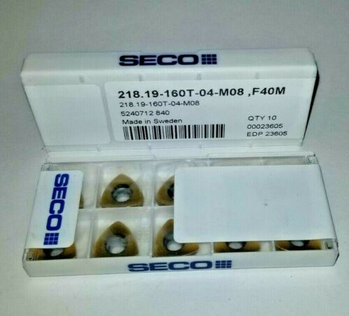 218.19 160T 04 M08 F40M SECO *** 10 INSERTS *** FACTORY PACK ***