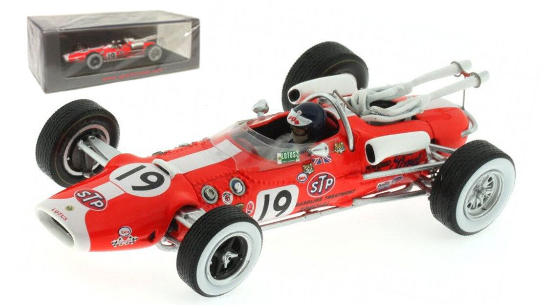 Spark S2390 Lotus 38 'STP' nd Indy 500 1966 - Jim Clark 1 43 Scale