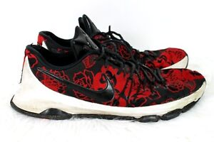 11687b84778b Nike KD 8 EXT Floral Finish size 16 Mens Kevin Durant Red Black ...