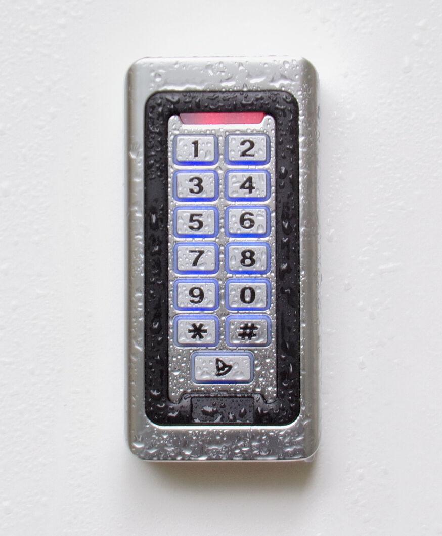 RFID- & PIN-Code-Schloss, IP68, Metallgehäuse, inkl. Design-Transponder