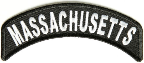 free UK postage MASSACHUSETTS USA STATE ROCKER BIKER EMBROIDERED PATCH BADGE