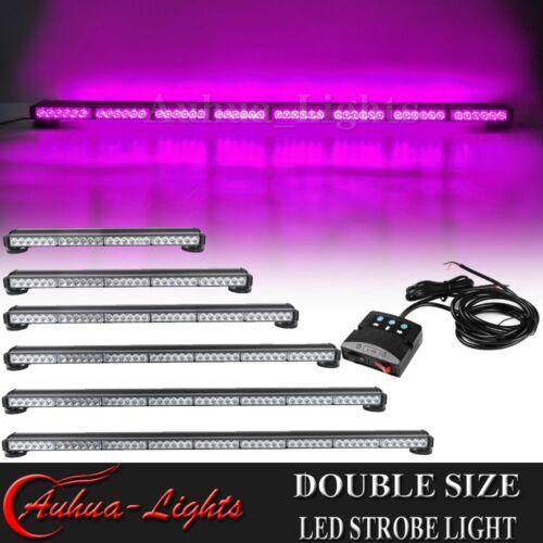 "24/"" 41/"" 53/"" Purple LED Emergency Warning Roof Double Side Roof Strobe Light Bar"