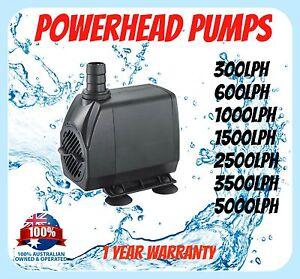AQUARIUM-PUMP-300-600-1000-1500-lph-Pond-Powerhead-AU-Plug-Tank-Submersible