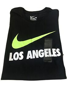 NWT-The-Nike-Tee-Men-039-s-Size-S-Athletic-Cut-Los-Angeles-T-Shirt-Black