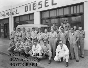 Details about Cummins Engine Company Diesel car 1948 automobile dealer car  photograph photo