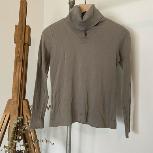 Vtg 80s 90s Ralph Lauren Turtleneck Sweater Cente… - image 1