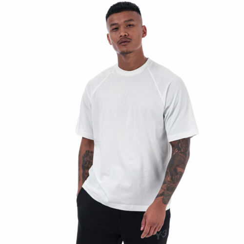 Mens Y-3 Classic Logo Back T-Shirt In White