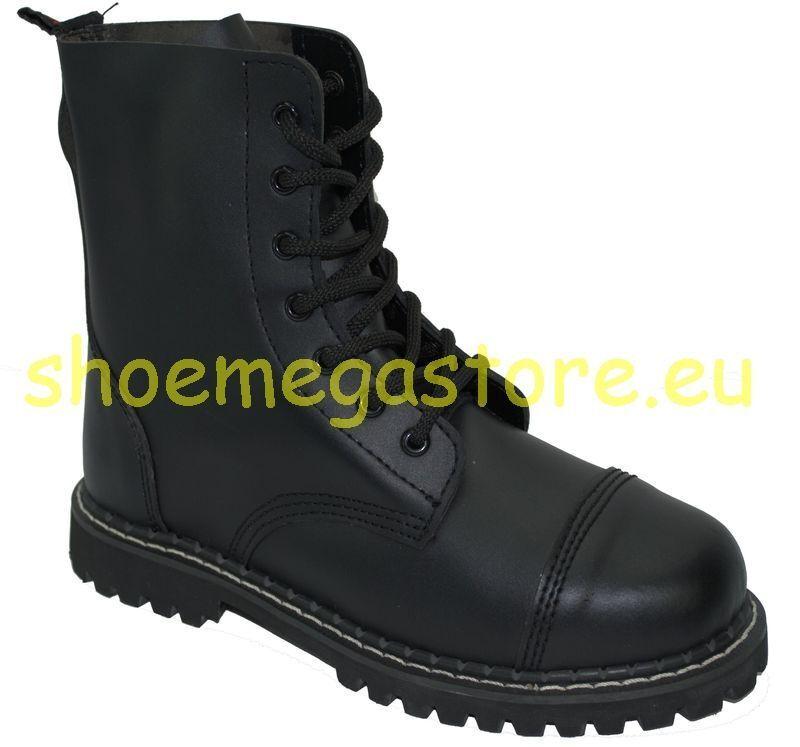 Inamagura botas 7 Agujero 11f1010 negro