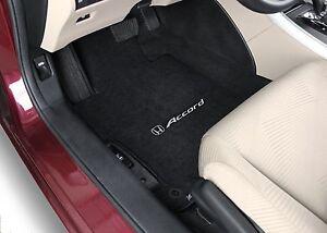 A Imagem Está Carregando Honda Accord Sedan 4PC Preto Carpet Floor Mats
