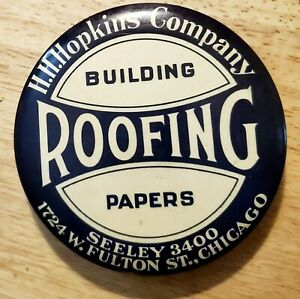1920-30s-Celluloid-Adv-Hopkins-building-Roofing-Papers-Chicago