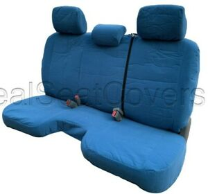 Pleasing Details About Blue Bench Seat Cover Large Notched Cushion Custom Fit 3 Adj Headrest Exact Fit Caraccident5 Cool Chair Designs And Ideas Caraccident5Info