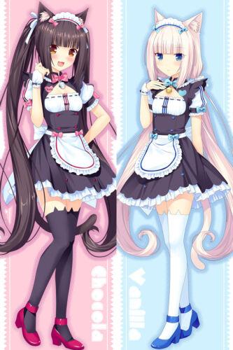 NEKOPARA chocolat vanilla Dakimakura Anime Hug Body Pillow Case Cover 59/'/'