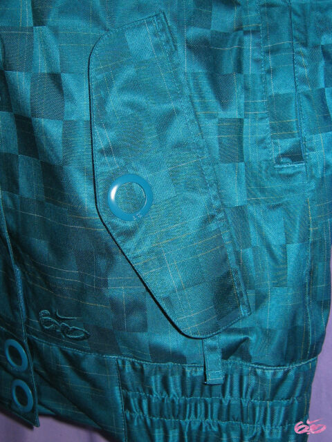 Nike 6.0 mujer Tervist snowboard chaqueta Parka turquesa XS