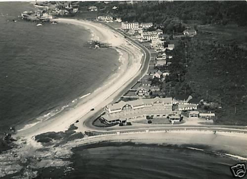 1930s Kennebunk Beach Maine Aerial View Narragansett By the Sea Hotel