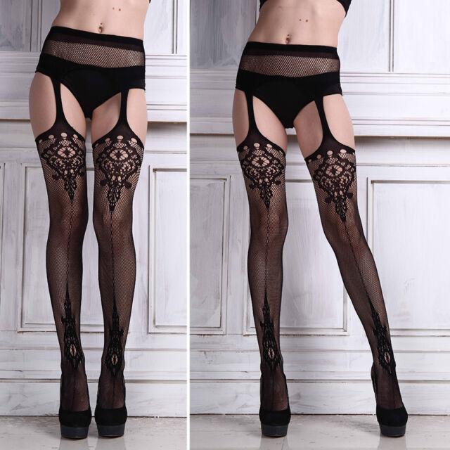 Women Lace Net Suspender Tights Pantyhose Stockings Leggings Garter Belt Socks